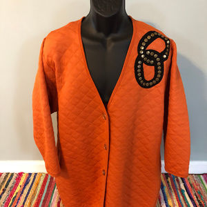 80s Fettucini Orange Coat Chain Link Design